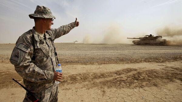 Xe tăng M1A1 Abrams gần Baghdad, Iraq - Sputnik Việt Nam