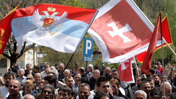Phe đối lập đã tổ chức tại Cetinje hoạt động mít tinh đòi quyết định số phận sự gia nhập NATO thông qua trưng cầu dân ý. - Sputnik Việt Nam