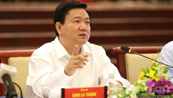 Uỷ viên Bộ Chính trị, Bí thư Thành uỷ TP.HCM Đinh La Thăng tại buổi gặp gỡ - Sputnik Việt Nam