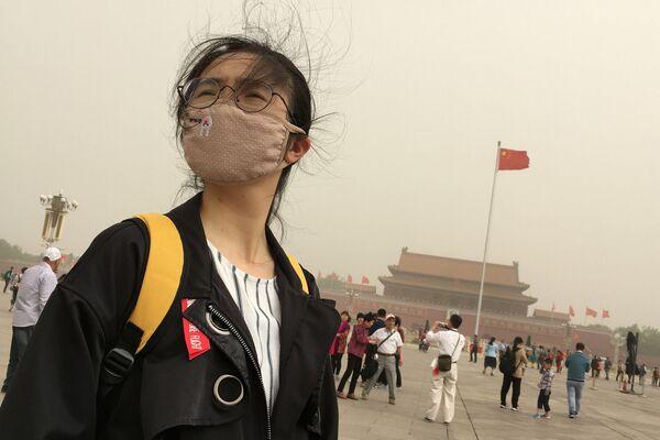 Bắc Kinh -  khói mù… Cư dân buộc phải đeo mặt nạ đặc biệt. - Sputnik Việt Nam