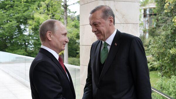 Tổng thống Nga Vladimir Putin và Thổ Nhĩ Kỳ Tayyip Erdogan - Sputnik Việt Nam