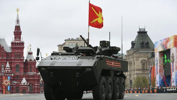 """Xe bọc thép bánh lốp BTR hạng trung """"Boomerang""""  - Sputnik Việt Nam"""
