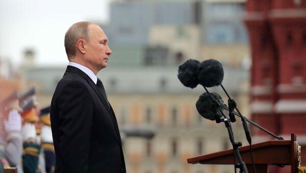 Президент РФ Владимир Путин на военном параде в честь 72-й годовщины Победы в ВО - Sputnik Việt Nam