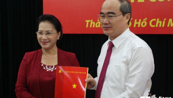 Ông Nguyễn Thiện Nhân nhận quyết định trở thành Bí thư Thành ủy TP.HCM. - Sputnik Việt Nam