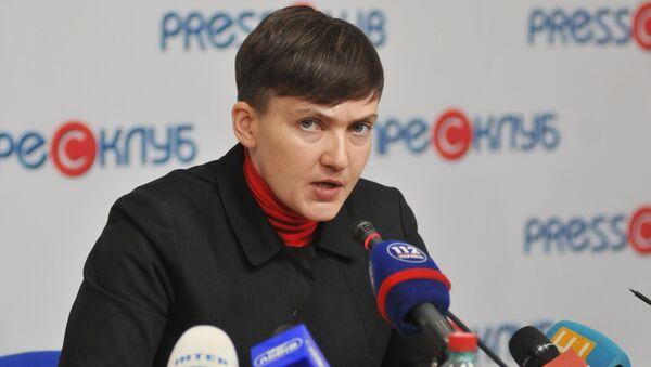 Nghị sĩ Verkhovnaya Rada Nadezhda Savchenko - Sputnik Việt Nam