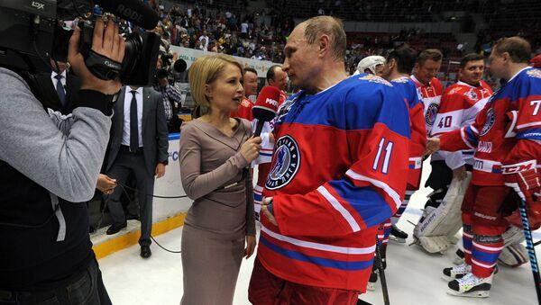 President Vladimir Putin participates in Night Hockey League gala match - Sputnik Việt Nam