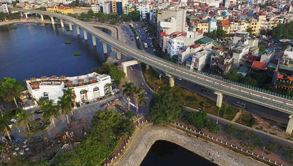 Tuyến đường sắt Cát Linh - Hà Đông đi qua đoạn Hoàng Cầu - Sputnik Việt Nam