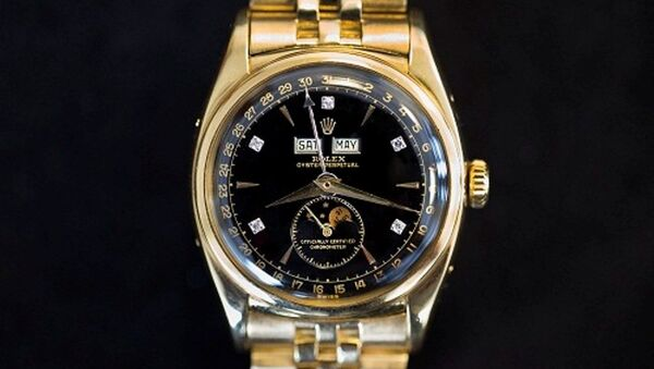 """Rolex Reference 6062 có tên """"Bao Dai"""" được kỳ vọng sẽ trở thành chiếc Rolex đắt nhất từng được mang ra đấu giá, nếu nó có thể đạt trên 2,5 triệu USD. - Sputnik Việt Nam"""