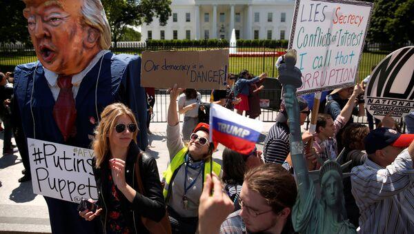 cuộc biểu tình chống Trump - Sputnik Việt Nam