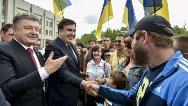 ông Poroshenko và ông Saakashvili - Sputnik Việt Nam