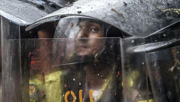 Venezuela. Cảnh sát trong thời gian diễn ra biểu tình phản đối ở thủ đô Caracas. - Sputnik Việt Nam