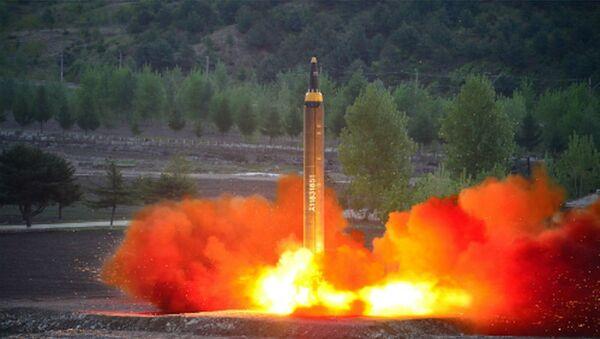 Một vụ phóng tên lửa của Triều Tiên - Sputnik Việt Nam