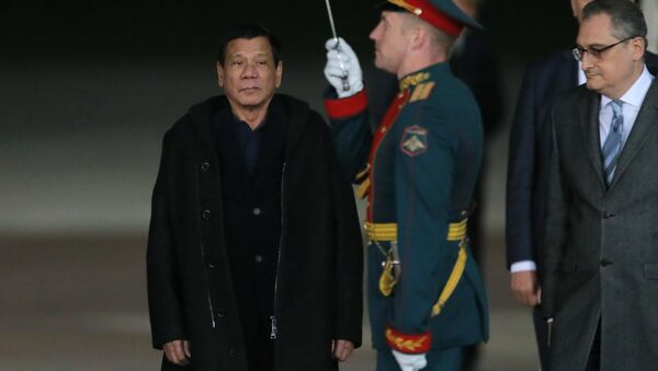 Tổng thống Philippines Rodrigo Duterte đến Matxcơva trong chuyến thăm chính thức - Sputnik Việt Nam