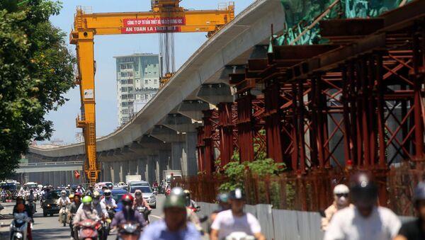 Dự án đường sắt Cát Linh - Hà Đông thi công chậm, đội vốn hơn 300 triệu USD. - Sputnik Việt Nam
