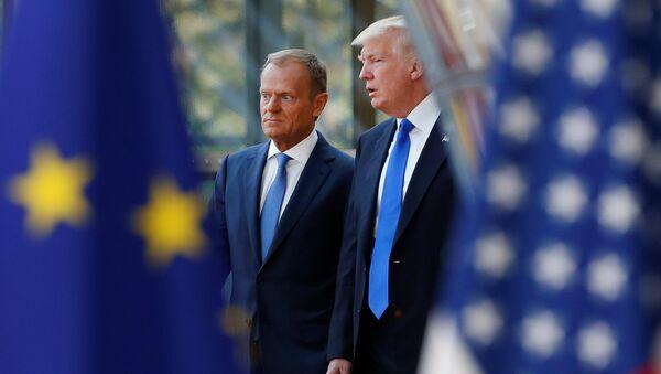 Donald Trump và Donald Tusk - Sputnik Việt Nam