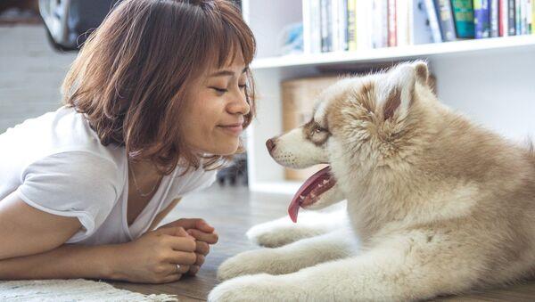 Cô gái và con chó - Sputnik Việt Nam