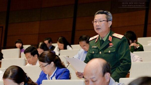 Thiếu tướng Nguyễn Sỹ Hội phát biểu - Sputnik Việt Nam