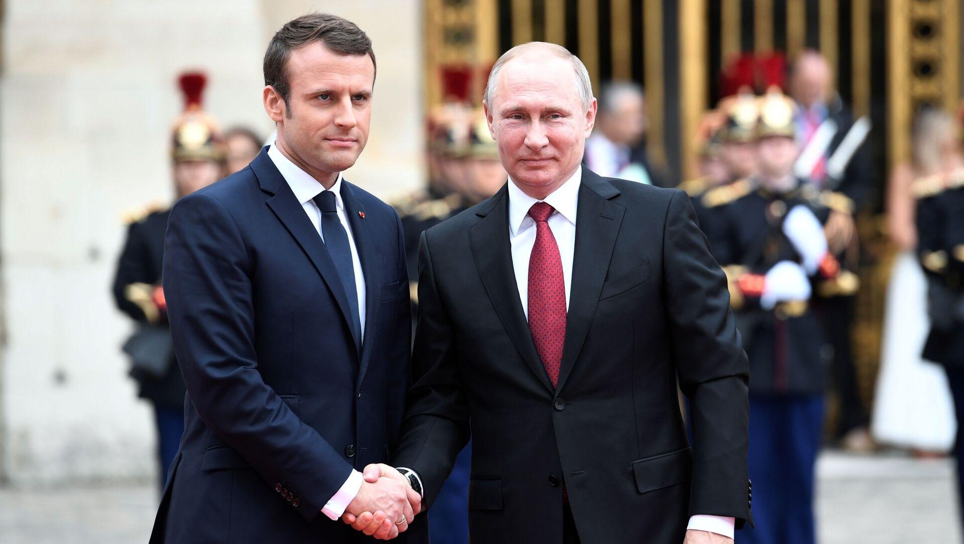 Tổng thống Putin hội đàm với Tổng thống Pháp Emmanuel Macron - Sputnik Việt Nam, 1920, 23.09.2021