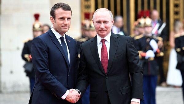 Tổng thống Putin hội đàm với Tổng thống Pháp Emmanuel Macron - Sputnik Việt Nam