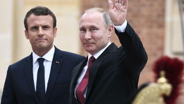 cuộc gặp sắp tới  của các ông Vladimir Putin và Emmanuel Macron - Sputnik Việt Nam