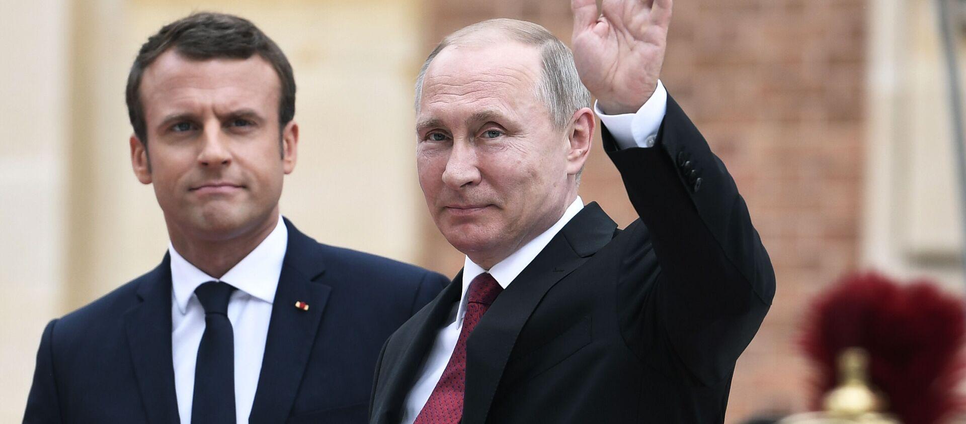 cuộc gặp sắp tới của các ông Vladimir Putin và Emmanuel Macron - Sputnik Việt Nam, 1920, 20.09.2021