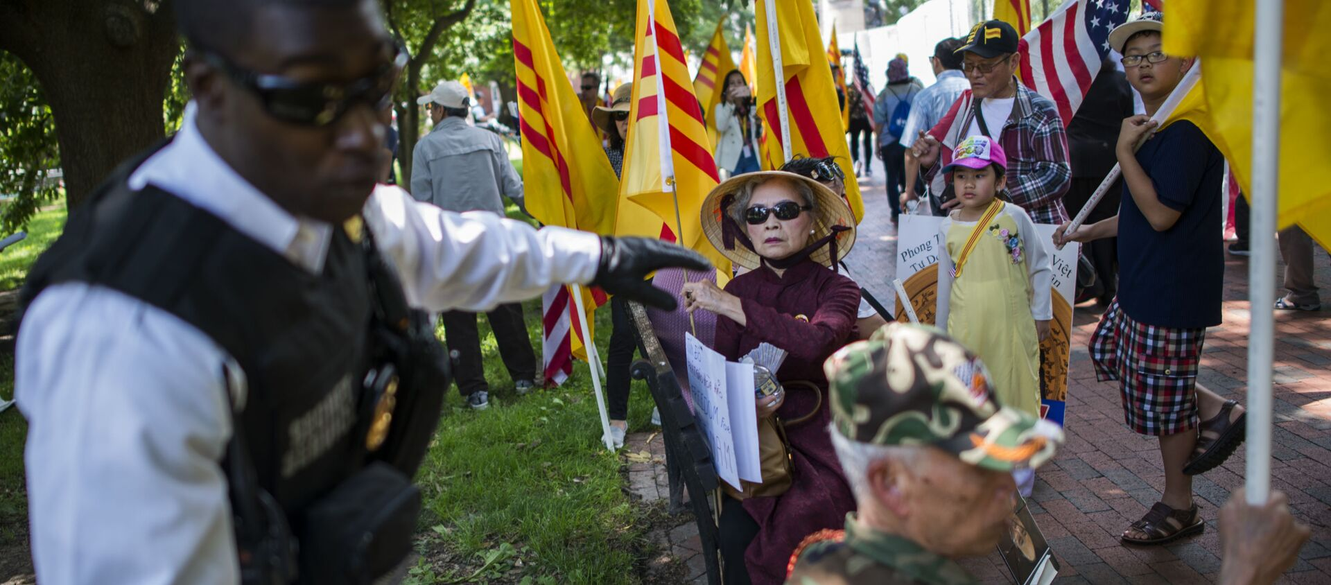 Cuộc biểu tình của người Mỹ gốc Việt ở Washington, DC - Sputnik Việt Nam, 1920, 30.01.2018