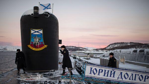 Tàu ngầm hạt nhân Yury Dolgoruky Hạm đội Phương Bắc — trong căn cứ vùng Murmansk. - Sputnik Việt Nam