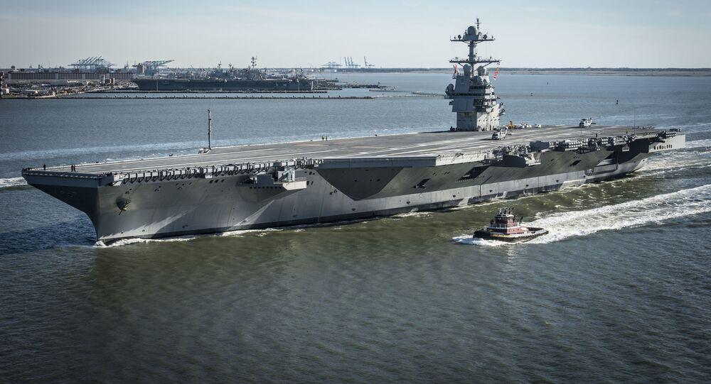 Hải quân Hoa Kỳ tiếp nhận hàng không mẫu hạm đắt giá nhất thế giới làm vũ khí (USS Gerald R. Ford)
