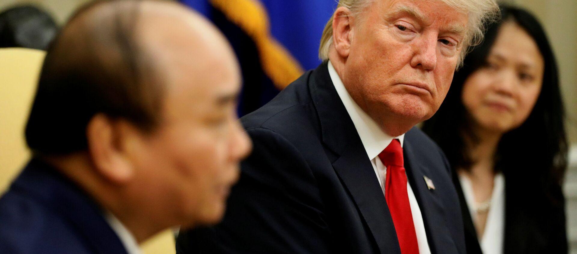 Tổng thống Mỹ Donald Trump và Thủ tướng Nguyễn Xuân Phúc tại Washington - Sputnik Việt Nam, 1920, 15.07.2019