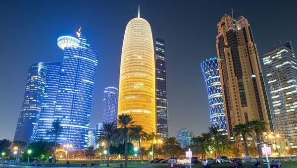 Ночной вид столицы Катара Дохи - Sputnik Việt Nam