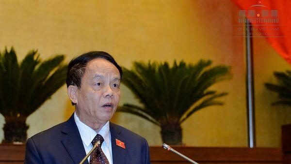 Thượng tướng Võ Trọng Việt - Chủ nhiệm Ủy ban Quốc phòng An ninh Quốc hội tại phiên họp chiều 6-6 - Sputnik Việt Nam