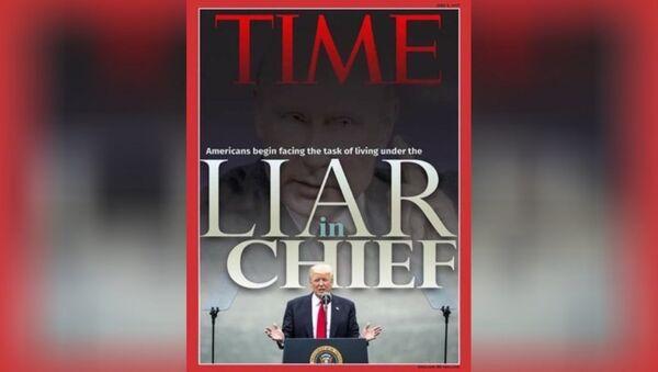 trang bìa giả của Time - Sputnik Việt Nam