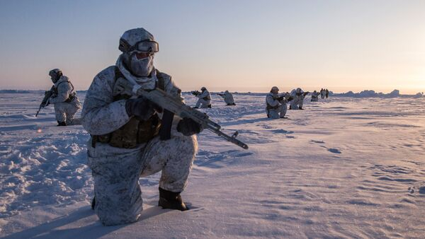 Drill of special ops unit of Chechen Republic near North Pole - Sputnik Việt Nam