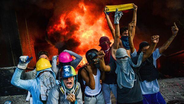 Venezuela. Caracas. Tiếp diễn biểu tình chống Chính phủ. - Sputnik Việt Nam
