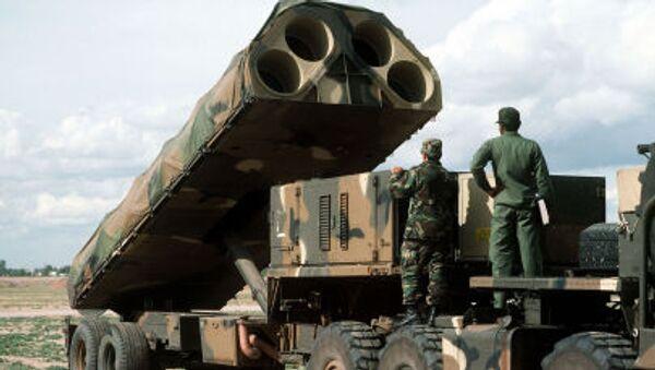 Bệ phóng tên lửa di động trên mặt đất của quân đội Mỹ - Sputnik Việt Nam