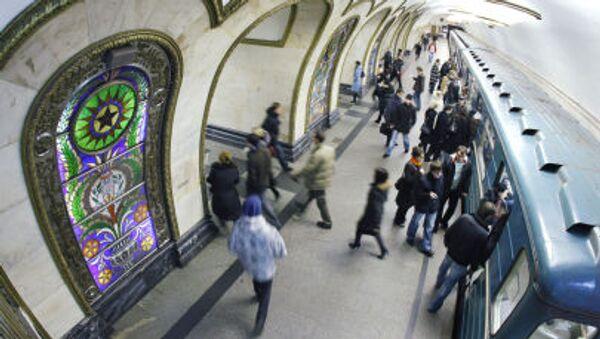 Kế hoạch làm mát tàu điện ngầm trong những ngày hè nóng bức Ga tàu điện ngầm Novoslobodskaya, Moskva - Sputnik Việt Nam