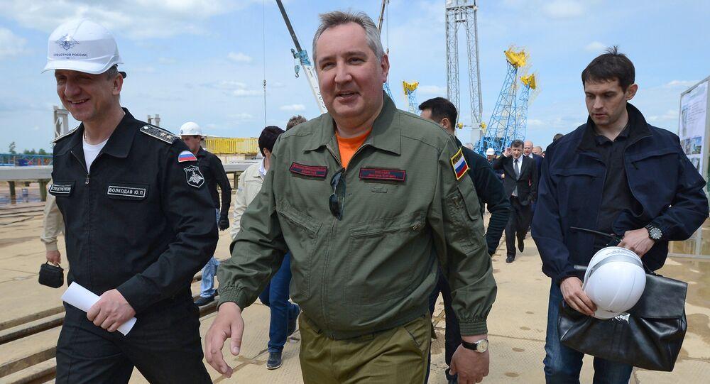 """Chuyến thăm làm việc của ông Dmitry Rogozin đến sân bay vũ trụ """"Vostok"""" khu vực Amur"""