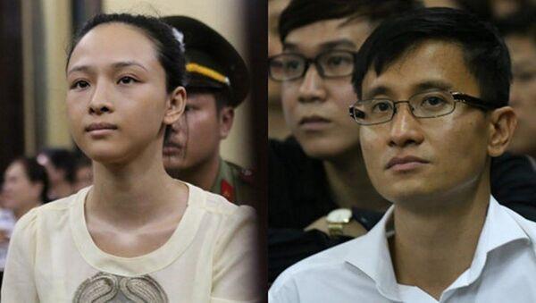 Bị cáo Phương Nga và nguyên đơn tại tòa - Sputnik Việt Nam