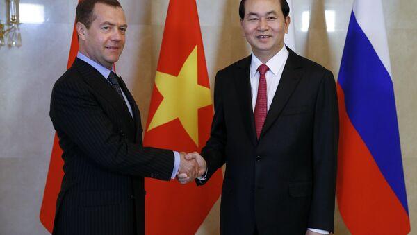 Thủ tướng Dmitry Medvedev gặp Chủ tịch nước Việt Nam Trần Đại Quang - Sputnik Việt Nam