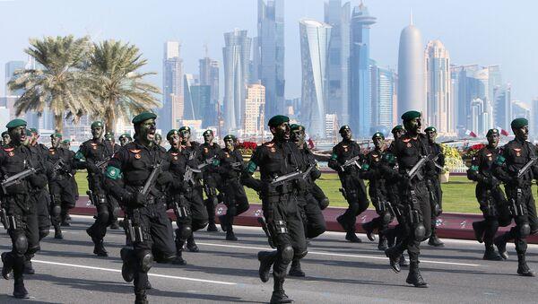 Lực lượng đặc nhiệm Qatar diễu hành quân sự tại Doha - Sputnik Việt Nam