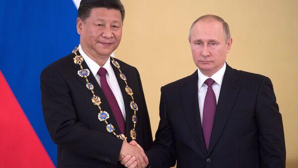 Встреча президента РФ В. Путина и председателя КНР Си Цзиньпина в Москве - Sputnik Việt Nam
