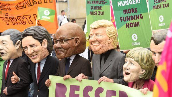 Proteste gegen G20-Gipfel in Hamburg - Sputnik Việt Nam