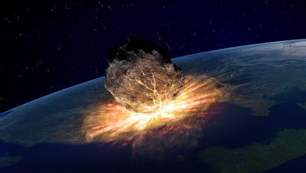 Иллюстрация падения астероида на Землю  - Sputnik Việt Nam