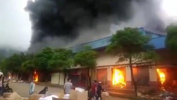 Cháy chợ Sài Gòn – Tân Thanh tại Lạng Sơn - Sputnik Việt Nam