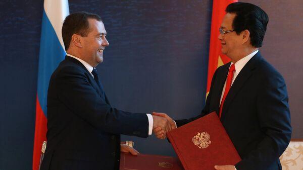 Dmitry Medvedev và   Nguyễn Tấn Dũng - Sputnik Việt Nam