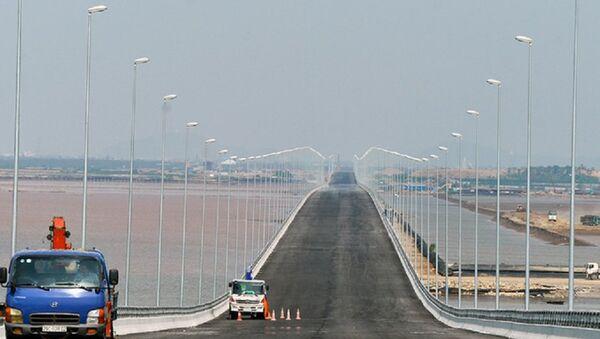 Dự án đường ô tô vượt biển Tân Vũ - Lạch Huyện (Hải Phòng) lộ nhiều sai sót kỹ thuật. - Sputnik Việt Nam