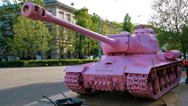 Xe tăng màu hồng - Sputnik Việt Nam