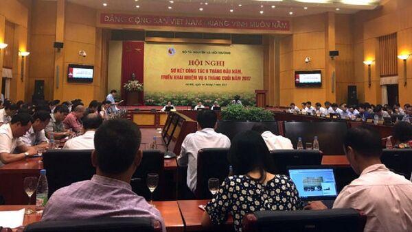 Hội nghị sơ kết 6 tháng đầu năm và triển khai nhiệm vụ 6 tháng cuối năm 2017 của Bộ TN-MT trở thành phiên họp nội bộ, không cho báo chí tham dự - Sputnik Việt Nam