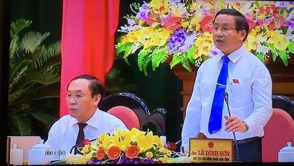 Bí thư Tỉnh uỷ, Chủ tịch HĐND tỉnh Hà Tĩnh Lê Đình Sơn - Sputnik Việt Nam