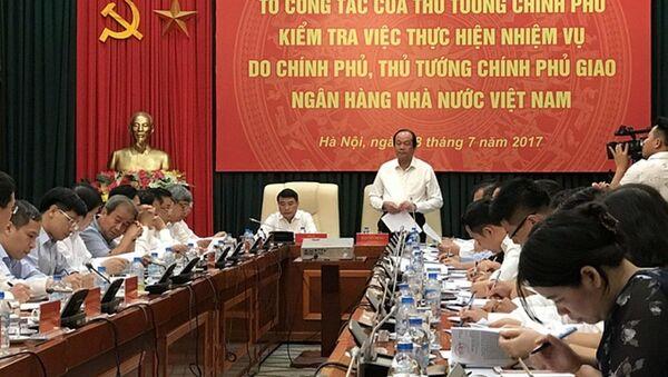 Bộ trưởng, Chủ nhiệm Văn phòng Chính phủ Mai Tiến Dũng cho biết, Thủ tướng yêu cầu NHNN giải trình 6 vấn đề - Sputnik Việt Nam